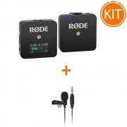 Kit Rode Wireless GO cu Microfon Rode Lavalier GO