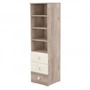 Timba Viki szekrény 3 fiókos nyitott krém-fűz