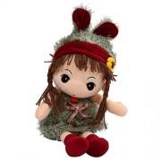 SODIAL(R) Girl Doll Plush Toys Beautiful Dolls for Girls Best Gift-Green 40cm