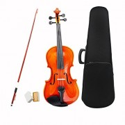 ammoon 1/8 Size Violin Fiddle Basswood Steel String Arbor Bow Stringed Instrument Musical Toy for Kids Beginners