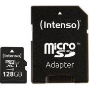 Intenso Paměťová karta microSDXC, 128 GB, Intenso Premium, Class 10, UHS-I, vč. SD adaptéru