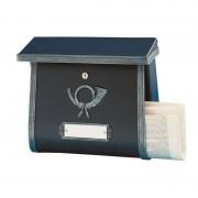 Rustic letterbox MULPI black antique