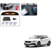 Auto Addict Car Silver Reverse Parking Sensor With LED Display For Volvo V40
