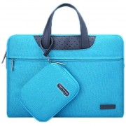 15,6 Pulgadas Portatil De Mano Cartinoe Business Series Exquisito Cremallera Bolsa De Ordenador Portatil Con Paquete De Potencia Independiente Para Macbook, Lenovo Y Otros Laptops, Internal Size: 36.5x24.0x3.0cm (azul)