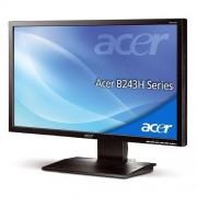 "Acer Monitor 24"" Acer B243hlloymdr Led Full Hd Vga Altoparlanti Incorporati Refurbished Grigio"