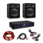 Electronic-Star HiFi усилвател и 3-частичен комплект говорители, цифров усилвател, високоговорители, включително и кабели (10034288+2*10000214)