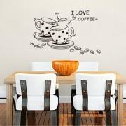 Стикер за стена с чаши за кафе