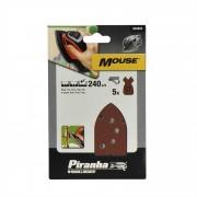 Piranha schuurstrook K240 mouse 5 stuks X31019