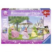 Puzzle printesele incantatoare, 2x25 piese, RAVENSBURGER
