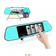 Camera Auto Oglindă Offroad Zenteko Full HD Touch ecran 7 inch SM780 + Tripla Auto USB, Card Memorie MicroSD 32GB