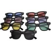 SRPM Wayfarer Sunglasses(Violet, Blue, Pink, Yellow, Green, Black, Red)