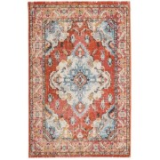 RugVista Tapis Leia 160X230 Salon Moderne Vintage Marron Clair/Orange