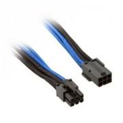 Cablu prelungitor Silverstone 6-pini PCIe, 250mm, Black/Blue, PP07-IDE6BA