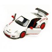 Civil 2010 Porsche 911 Gt3 Rs, White Kinsmart 5352 D 1/36 Scale Diecast Model Toy Car by Assemble Multicolored
