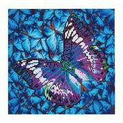 Needleart World Flutter by Mauve Kit de bordado de diamantes, multicolor