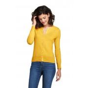ランズエンド LANDS' END レディース・スーピマ・ファインゲージ・カーディガン/無地/長袖(アトラスイエロー)