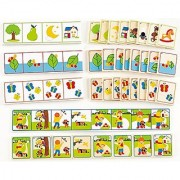 Hape - Home Education - Listen to Clues Wooden Card Game