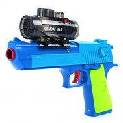 Foam Dart Gun Blaster Toy Hand Gun Pistol Shoot Water Ball Spring Powered, Light Up Aiming Scope, Suction Darts, Clear Eco Friendly Shooting Battle, Usa Warranty & Support