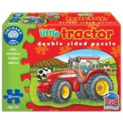 Puzzle fata verso Tractor 12 piese LITTLE TRACTOR