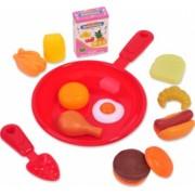 Set de bucatarie cu accesorii pentru gatit si servit masa multicolor 3 ani + 13 articole Topi Toy
