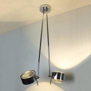 Top Light Puk Maxx Ceiling Sister Single Deckenleuchte anthrazit-chrom 60cm Standard-Fassung