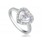 Szív alakú szintetikus gyémánt gyűrű 193-8