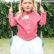 smartphoto Kinder Sweatshirt mit Foto Cremeweiss meliert 3 bis 4 Jahre