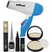 Color Diva Makeup Set With Hair Dryer Combo Pack of 5 GC570-By Adbeni
