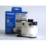 Etichete de hârtie mici pentru adrese Brother DK11209, 62 mm x 29 mm, negru/alb, 800 buc