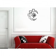 DIY Wall Clock 3D Sticker Home Office Decor 3D Wall Clock (Covering Area4555cm) - DY452B