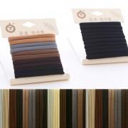 AliExpress 1 Pack Hoge Kwaliteit Katoen Effen Elastische Haarband Hoofdband Voor vrouwen Meisje Haar Touw Rubber Band Haar Accessoires Tie Gom 17 stijl