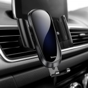 BASEUS Future Series Glass Surface Gravity Car Air Vent Mount Holder for iPhone Samsung - Black