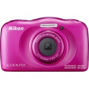 Nikon W-100 Digitale camera 13.2 Mpix Zoom optisch: 3 x Roze Full-HD video-opname, Onderwatercamera, Schokbestendig, WiFi