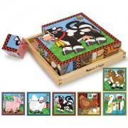 Дървени кубчета картинки на животни, 10775 Melissa and Doug, 000772107754
