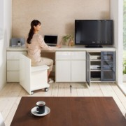 ギャラリー壁面収納 洗練デザインのリビングカウンター収納シリーズ 下台 扉タイプ 幅60cm [パモウナ YA-60]