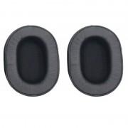 1 paar zachte spons Oorkap hoofdtelefoon jas voor audio-Technica ATH-MSR7/M50X/M20/M40/M40X (zwart)