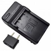 Adaptador de enchufe de la UE + cargador de bateria de la camara del enchufe de los EEUU para EN-EL5-negro