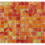 Maxwhite JSM-CH017 Mozaika skleněná žlutá červená oranžová 29,7x29,7cm