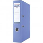 Biblioraft A4, plastifiat PP/PP, margine metalica, 75 mm, DONAU Premium - bleu