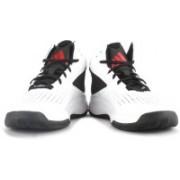 Adidas CROSS 'EM 4 Basketball Shoes For Men(White, Black)