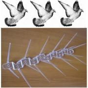 Țepi din policarbonat împotriva păsărilor (l. - 34 cm.) - 50 metri