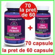 Aloe Ferox PROMOTIE 70 capsule la pret de 60 capsule - Herbagetica