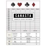 Canasta Score Notebook: Canasta Game Record Keeper Book Card, Sheet Has Space to Record, Score Pad Contains 100 Sheets, Size 8.5 X 11 Inch, Paperback/Narika Publishing