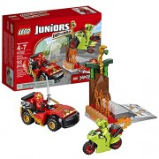 Ninjagos Lego Year 2016 Juniors Ninjago Series Set #10722 - SNAKE SHOWDOWN with Ninja Car Motorbike Kai and Lasha Minifigure