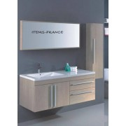 items-france NEOMA - Meuble salle de bain contemporain neoma 130x50x52