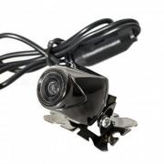 Q1303 universal 656 x 492 pixeles con cable camara de vista trasera del coche impermeable CMD - plateado negro