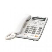 Стационарен Телефон Panasonic KX-TS620, LCD черно-бял дисплей, бял