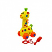 Jucarie demontabila Echipa Istetilor, cheie si surubelnita inclusa, girafa