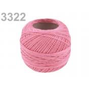 Hímzőcérna Cotton Perle Nitarna, Uni - 290104, 3322, rózsaszín