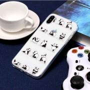 Para IPhone X El Panda Yoga Patron TPU Funda Protectora